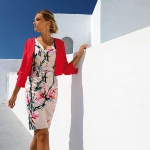 LINEA RAFFAELLI S20 - SET 239 - Jacket 201-105-01 - Dress 201-127-01 side (Small)